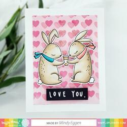 "Love You Bunnies Clear Stamps 4""X6"" - 7"